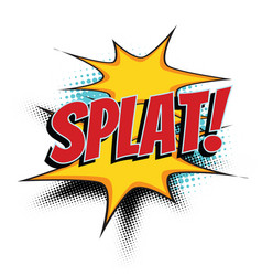 Splat comic word vector