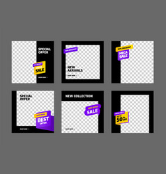 Stories template set for sale banner social media vector