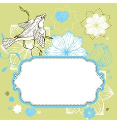 stylish floral background hand drawn retro flowers vector image