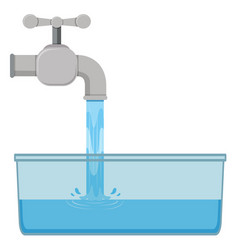 Tab water in the sink vector