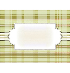 Template frame on the checkered background vector
