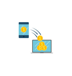 transaction concept flat icon vector image
