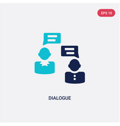 two color dialogue icon from human resources vector image