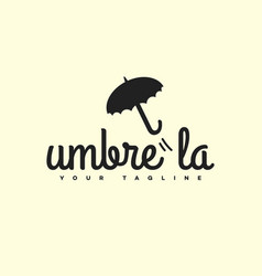 Umbrella logo vector