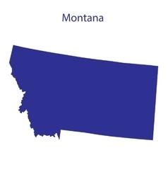 United States Montana vector