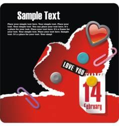 valentines stationery postcard vector image
