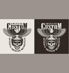 vintage custom motorcycle badge vector image