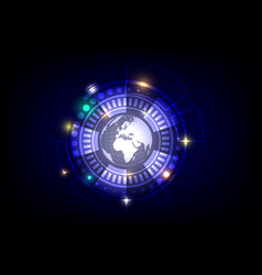 world and circle background vector image