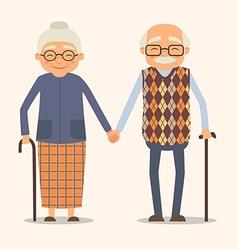 grandparents image of happy couple in cartoon vector image vector image