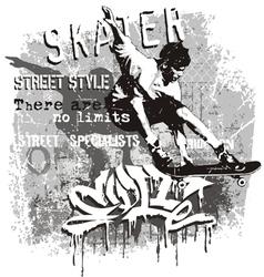 skater no limit vector image
