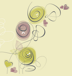 spring flowers love greeting card vector image
