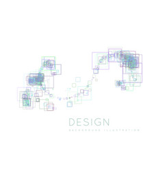 background of the squares in a modern style vector image vector image