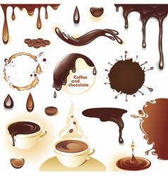 Coffee and chocolate vector image vector image