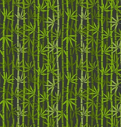 green bamboo seamless pattern vector image vector image