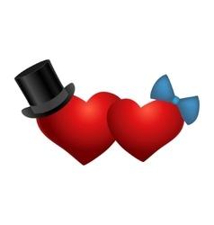heart love friendship male female relationship vector image