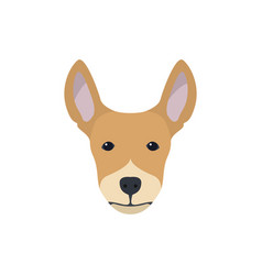 multicolor simple dog head silhouette vector image vector image