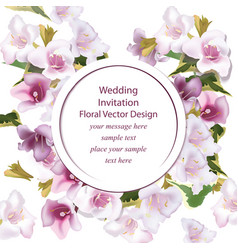 spring delicate flowers bouquet card background vector image
