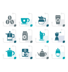 stylizedcoffee industry signs and icons vector image