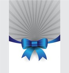 blue ribbon design element vector image vector image