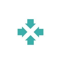 Four arrows logo form letters X graphic concept vector image vector image