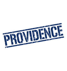 Providence blue square stamp vector