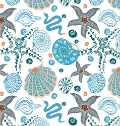 seamless sea paradise vector image vector image