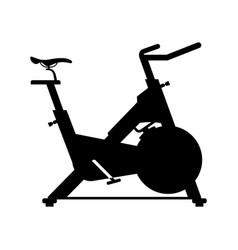 stationary bicycle vector image vector image