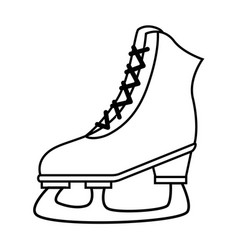 ice skates isolated icon vector image vector image