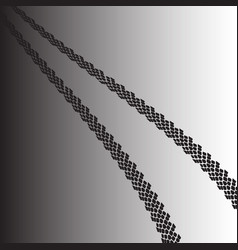 image of car track vector image