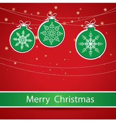 Merry Christmas Greeting card with Christmas balls vector image vector image