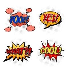 Set of comic bubble speech onomatopoeia vector image