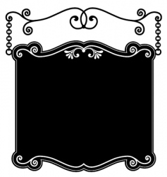 sign panel black vector image