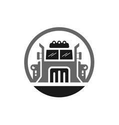 american truck transport logo vector image