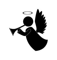 Angel trump musical instrument icon vector