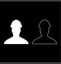 avatar builder architect engineer in helmet view vector image