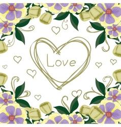 Beautiful bright postcard confession love vector