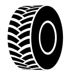 Black tractor tyre symbol vector