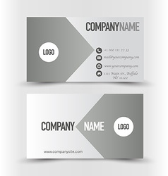 Business card set template grey and silver color vector