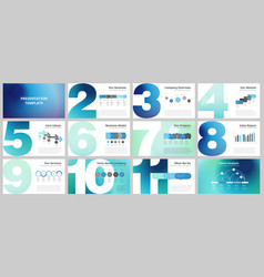 business presentation templates vector image