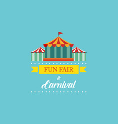 Carnival funfair and amusement park banner vector