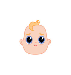 cartoon newborn infant baby sad face vector image