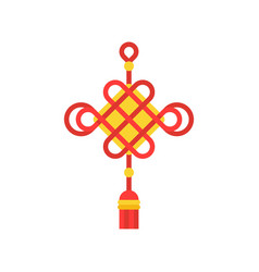 chinese traditional decorative knots icon vector image