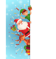 Christmas cartoon characters santa claus xmas vector