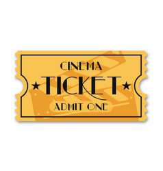 Cinema ticket isolated on background vintage vector