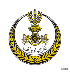 Coat arms perak is a malaysian region emblem vector