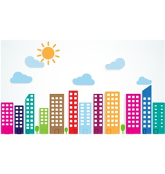 colorful urban scene vector image