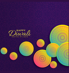 Creative diwali design festival greeting with vector