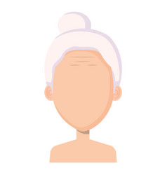 Cute grandmother shirtless avatar character vector