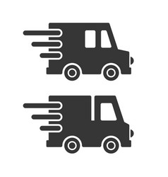 delivery cargo car icons set on white background vector image