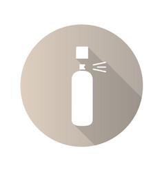 Deodorant flat design long shadow glyph icon vector
